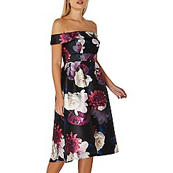Dorothy Perkins - **Luxe multi coloured floral print bardot dress