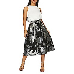 Dorothy Perkins - **luxe silver floral jacquard skirt