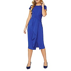 Dorothy Perkins - Luxe blue frill manipulated dress