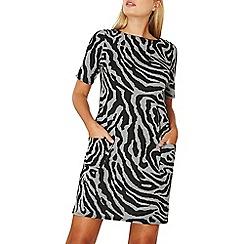 Dorothy Perkins - **Billie & Blossom black and grey zebra print jacquard shift dress