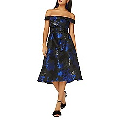 Dorothy Perkins - **luxe blue jacquard prom dress