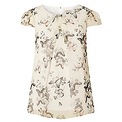 Dorothy Perkins - Tall ivory butterfly top