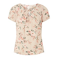 Dorothy Perkins - Billie & blossom petite blush floral print shell top
