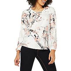 Dorothy Perkins - Billie & blossom ivory jersey floral top