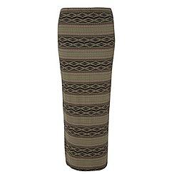 Dorothy Perkins - Tall green tribal maxi skirt