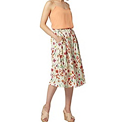 Dorothy Perkins - Meadow floral button midi skirt