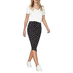Dorothy Perkins - Spotted asymmetric tube skirt
