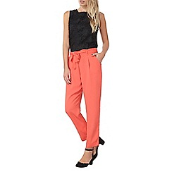 Dorothy Perkins - Coral tie waist trousers