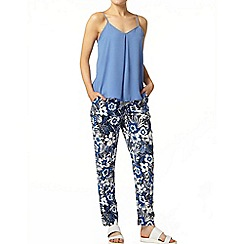 Dorothy Perkins - Blue sketch floral jogger