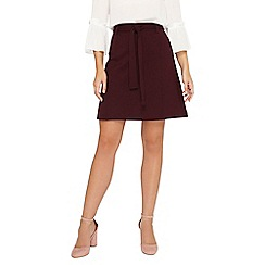Dorothy Perkins - Grape tie ponte a-line skirt