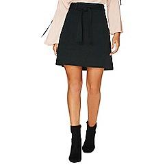 Dorothy Perkins - Green tie ponte A-line skirt
