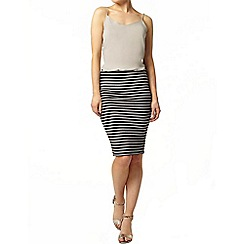 Dorothy Perkins - Black and white pencil skirt