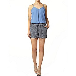 Dorothy Perkins - Blue geometric pattern short