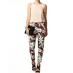 Dorothy Perkins - Ginger floral crop trousers