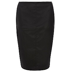 Dorothy Perkins - Black pu pencil skirt