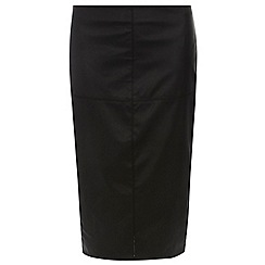 Dorothy Perkins - Tall black pu pencil skirt