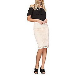 Dorothy Perkins - Blush lace pencil skirt