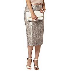 Dorothy Perkins - Blush two tone sequin pencil skirt