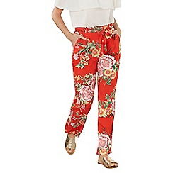 Dorothy Perkins - Red oriental palazzo trousers