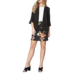 Dorothy Perkins - Black floral A-line skirt