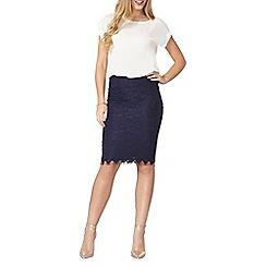 Dorothy Perkins - Navy lace pencil skirt