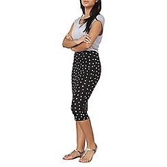 Dorothy Perkins - Black spot print jersey tube skirt