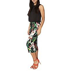 Dorothy Perkins - Tropical floral tube skirt