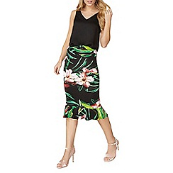 Dorothy Perkins - Tropical floral pephem tube skirt