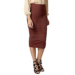 Dorothy Perkins - Rust cut about stripe tube skirt