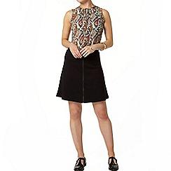 Dorothy Perkins - Ponte zip front a line mini skirt