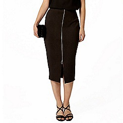 Dorothy Perkins - Zip front animal pencil skirt