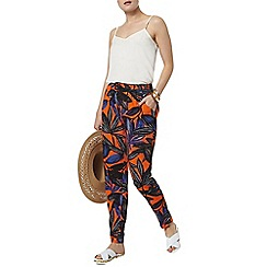 Dorothy Perkins - Orange lily print jogger