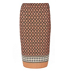 Dorothy Perkins - Orange printed tube skirt