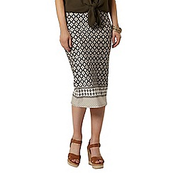 Dorothy Perkins - Stone print border pencil skirt