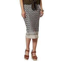 Dorothy Perkins - Stone print border pencil skirt