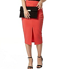 Dorothy Perkins - Coral split front tube skirt