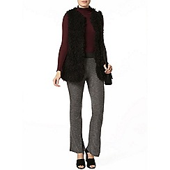 Dorothy Perkins - Grey marl rib flare trousers