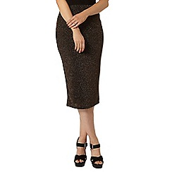 Dorothy Perkins - Gold and black sparkle tube skirt