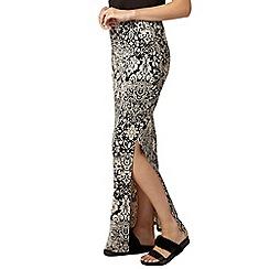 Dorothy Perkins - Stone baroque print maxi skirt