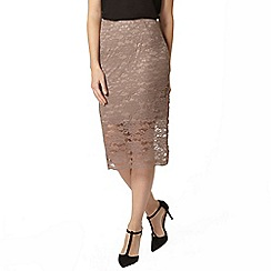 Dorothy Perkins - Mink lace pencil skirt