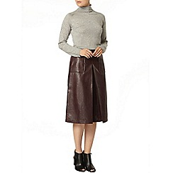 Dorothy Perkins - Port pu embossed a line skirt