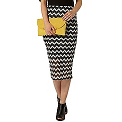 Dorothy Perkins - Black/silver pencil skirt