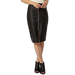 Dorothy Perkins - Black coated twill pencil skirt