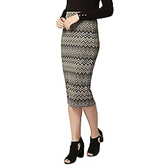 Dorothy Perkins - Mono and tan chevron tube skirt