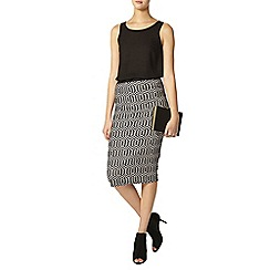 Dorothy Perkins - Tall geo printed pencil skirt