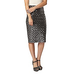 Dorothy Perkins - Silver diamond sequin pencil skirt