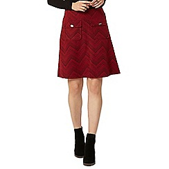 Dorothy Perkins - Wine chevron textured a-line skirt