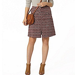 Dorothy Perkins - Wine diamond textured a line skirt