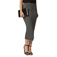 Dorothy Perkins - Silver shimmer tube skirt
