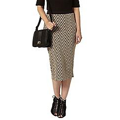 Dorothy Perkins - Stone chevron jaquard tube skirt